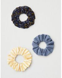 American Eagle - Ae Floral & Blue Scrunchie 3-pack - Lyst