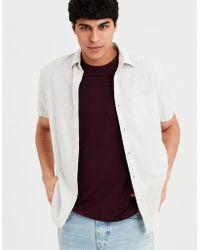 American Eagle - Ae Seriously Soft Poplin Buttondown Shirt - Lyst