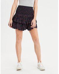 American Eagle - Ae Smocked Waist Ruffle Skirt - Lyst