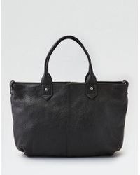 American Eagle - Wander Leather Slouchy Satchel - Lyst