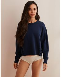 b4171a669e Lyst - Old Navy Side-lace-up French-terry Sweatshirt in Blue