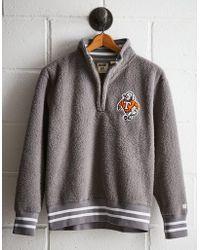 Lyst Express Sherpa Lined Mock Neck Fleece Sweater In Black For Men