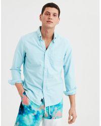 89cc693b American Eagle - Ae Long Sleeve Oxford Button Down Shirt - Lyst