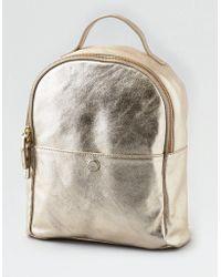 American Eagle - Ae Wander Leather Mini Backpack - Lyst