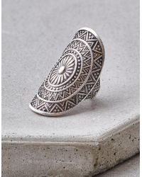 American Eagle - Large Oxidized Silver Ring - Lyst