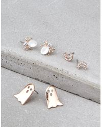 American Eagle - Rose Gold Halloween Earring 3-pack - Lyst