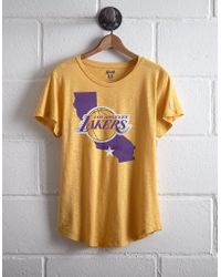 7d3f65f6f293d7 Lyst - TOPSHOP Lakers Oversized Boyfriend T-shirt By in Black
