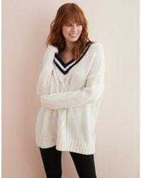American Eagle - Oversized V-neck Sweater - Lyst