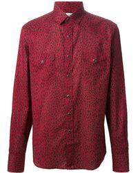 Saint Laurent Red Camicia Rosso - Lyst