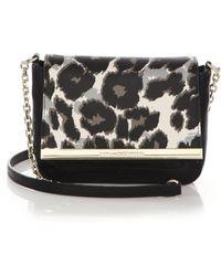 Diane von Furstenberg Voyage Leopard-Print Crossbody Bag - Lyst