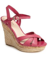 Charles by Charles David 'Astro' Espadrille Sandal pink - Lyst