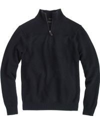 J.Crew Slim Cotton-Cashmere Half-Zip Sweater - Lyst