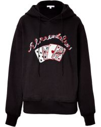 Olympia Le-Tan Embroidered Cotton Abracadabra Sweatshirt - Lyst