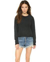 Rag & Bone/JEAN Pier Sweatshirt - Black black - Lyst
