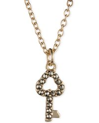 Judith Jack Gold-plated Sterling Silver Crystal and Marcasite Key Pendant Necklace - Lyst
