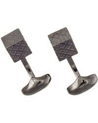 Black.co.uk - Black Rhodium Cube Cufflinks - Lyst