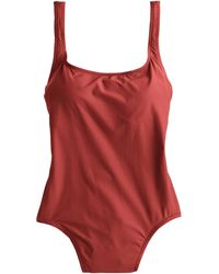 J.Crew Scoopback One-Piece Swimsuit brown - Lyst