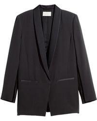 H&M Silk Tuxedo Jacket - Lyst