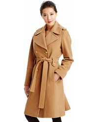 Anne Klein | Doublebreasted Belted Trench Coat | Lyst