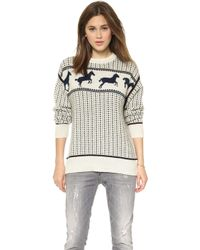 Band of Outsiders - Fair Isle Horses Sweater - Ivory - Lyst