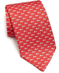 Ferragamo | Gator Repeat Silk Tie | Lyst