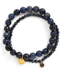 Satya Jewelry - Beaded Stretch Bracelets - Dumorite (set Of 2) - Lyst