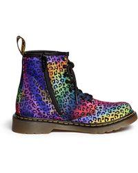 Dr. Martens 'Delaney' Leopard Print Dégradé Canvas Kids Boots multicolor - Lyst