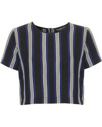 Topshop Petite Exclusive Striped Tee - Lyst