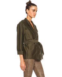 Isabel Marant John Cotton Satin Robe Wrap Jacket - Lyst