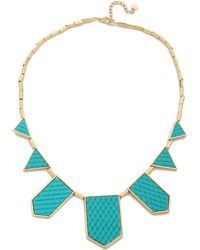 House of Harlow 1960 - Five Station Necklace Nude - Lyst