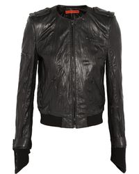Alice + Olivia Monrow Cropped Leather Jacket - Lyst