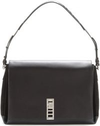 Proenza Schouler Ps Elliot Leather and Suede Shoulder Bag - Lyst