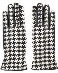 Topshop Black Dogtooth Gloves - Lyst