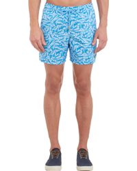 Limoland - Shark-pattern Swim Trunks - Lyst