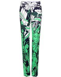 Miu Miu Printed Trousers - Lyst