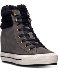 Converse Womens Chuck Taylor All Star Platform Plus Hi Suede Casual Sneakers From Finish Line - Lyst