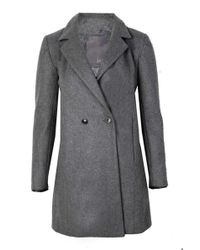 Lot78 - Grey Boyfriend Crombie - Lyst
