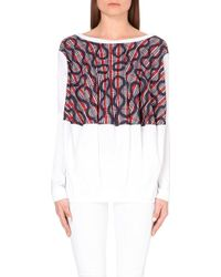 Vivienne Westwood Anglomania Squiggle-Print Cotton Blouse - For Women white - Lyst