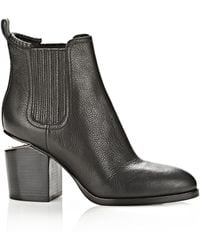 Alexander Wang Gabriella Bootie With Rose Gold - Lyst