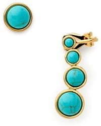 Rebecca Minkoff Mix Matched Ovals Earring blue - Lyst