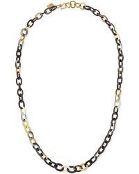 Ashley Pittman Mini Mara Necklace in Dark Horn - Lyst