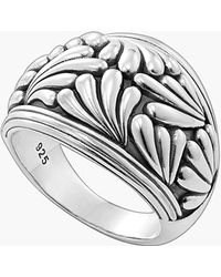 Lagos 'Flora' Etched Ring - Lyst