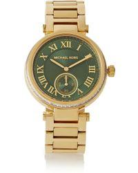 Michael Kors Skylar Crystal-embellished Gold-tone Watch - Lyst