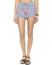 Basta Surf Baja Shorts - Zinnia Blue Print - Lyst