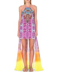 Camilla Halterneck Silk Summer Dress - For Women multicolor - Lyst