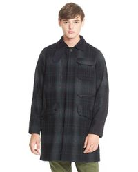 White Mountaineering - Plaid Flannel Coat - Lyst