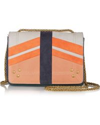 Jérôme Dreyfuss - Eliot Panelled Nubuck And Pebbled-Leather Shoulder Bag - Lyst