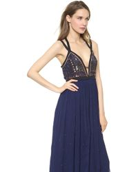 Free People Golden Chalice Dess Midnight - Lyst