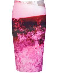 McQ by Alexander McQueen Haze Pink Print Contour Skirt - Lyst
