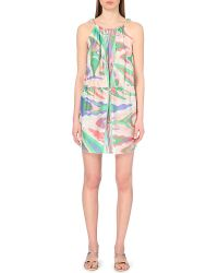 Emilio Pucci Abstract-Print Silk Summer Dress - Lyst